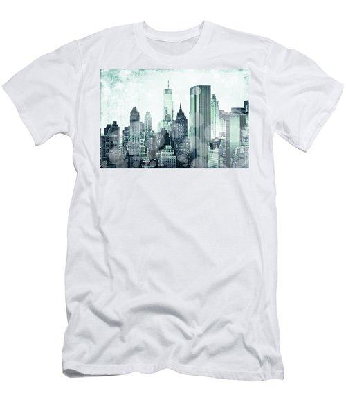 Blue City Beams Men's T-Shirt (Athletic Fit)