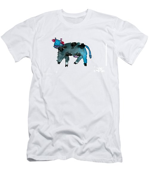 Blue Cow Men's T-Shirt (Athletic Fit)