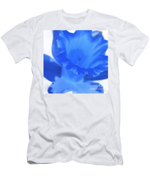 Men's T-Shirt (Slim Fit) featuring the photograph Blue Daffodil by Andy Prendy