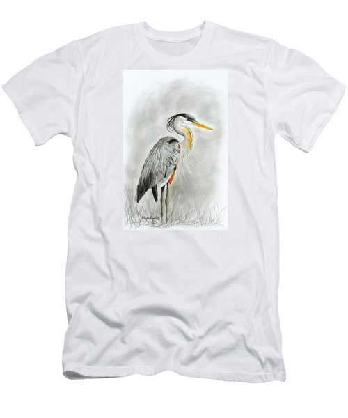 Blue Heron 3 Men's T-Shirt (Athletic Fit)
