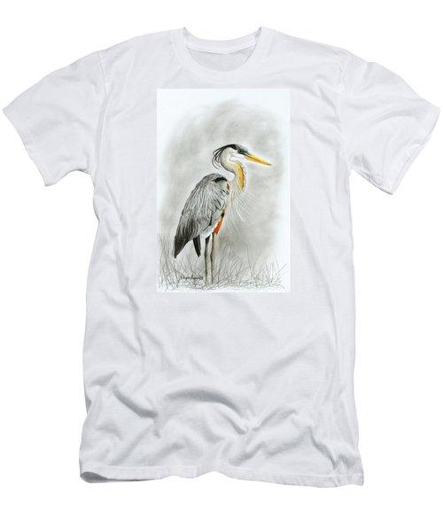 Blue Heron 3 Men's T-Shirt (Athletic Fit)
