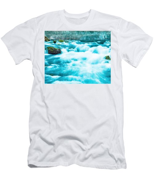 Men's T-Shirt (Slim Fit) featuring the photograph Blue Lagoon by Steven Bateson