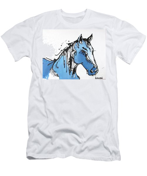 Men's T-Shirt (Slim Fit) featuring the painting Blue by Nicole Gaitan
