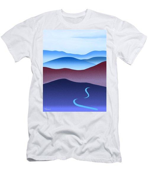 Blue Ridge Blue Road Men's T-Shirt (Slim Fit) by Catherine Twomey