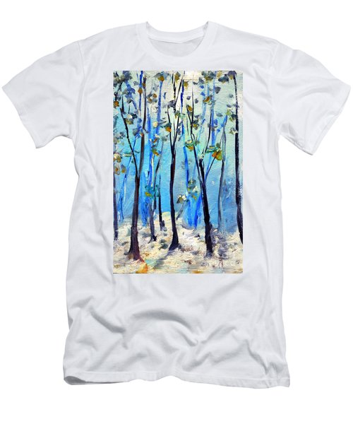 Blue Thoughts In Winter Men's T-Shirt (Athletic Fit)