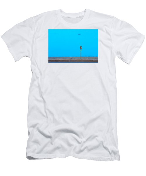 Men's T-Shirt (Slim Fit) featuring the photograph Blue Wall Parking by Darryl Dalton