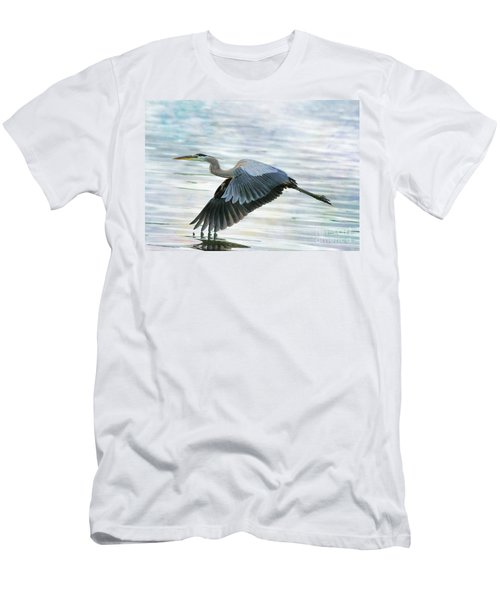 Blue With Grace And Beauty Men's T-Shirt (Athletic Fit)