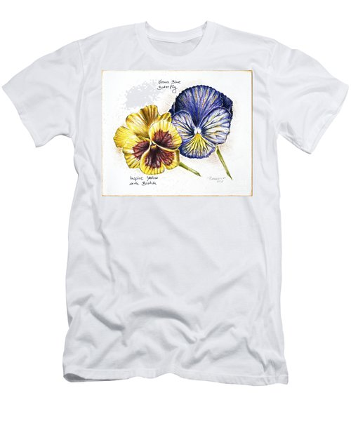 Blue Yellow Pansies Men's T-Shirt (Athletic Fit)