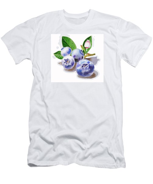 Artz Vitamins The Blueberries Men's T-Shirt (Slim Fit) by Irina Sztukowski