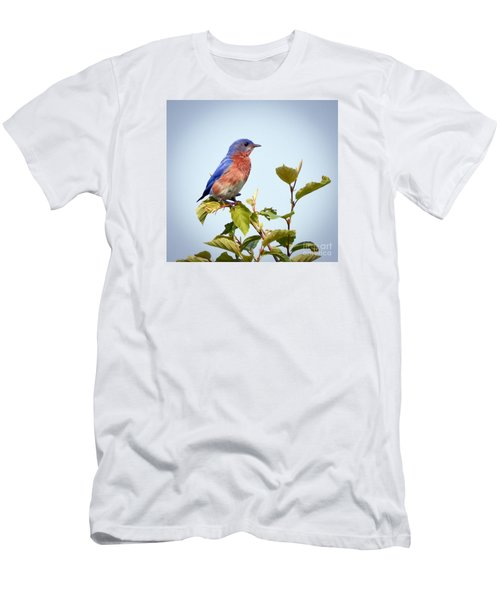 Men's T-Shirt (Slim Fit) featuring the photograph Bluebird On Top by Kerri Farley