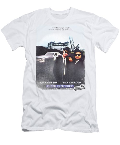 Blues Brothers - Distressed Poster Men's T-Shirt (Athletic Fit)