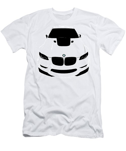 Men's T-Shirt (Slim Fit) featuring the digital art Bmw White by J Anthony
