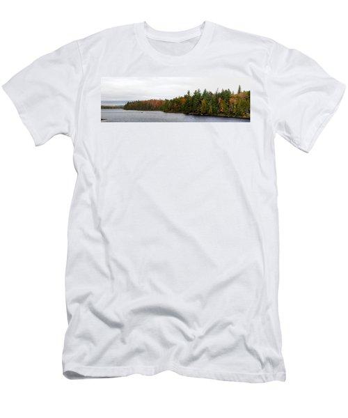 Boat In Canoe Lake, Algonquin Men's T-Shirt (Athletic Fit)
