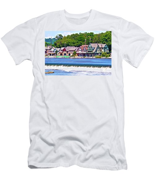Boathouse Row - Hdr Men's T-Shirt (Slim Fit) by Lou Ford