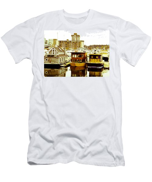 Men's T-Shirt (Slim Fit) featuring the photograph Boathouses by Eti Reid