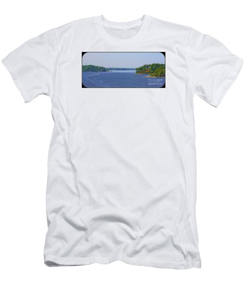 Boating On The Severn River Men's T-Shirt (Slim Fit) by Patti Whitten