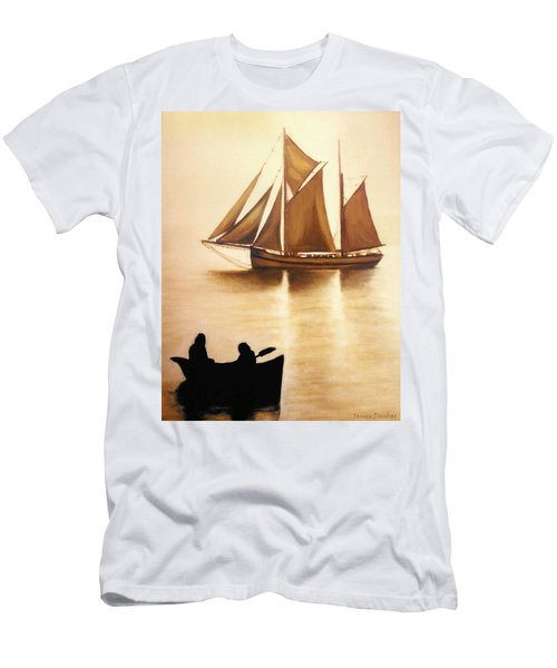 Boats In Sun Light Men's T-Shirt (Athletic Fit)