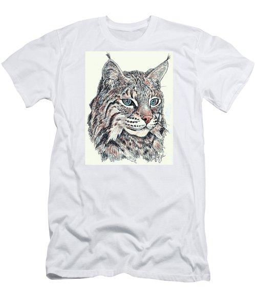 Bobcat Portrait Men's T-Shirt (Athletic Fit)