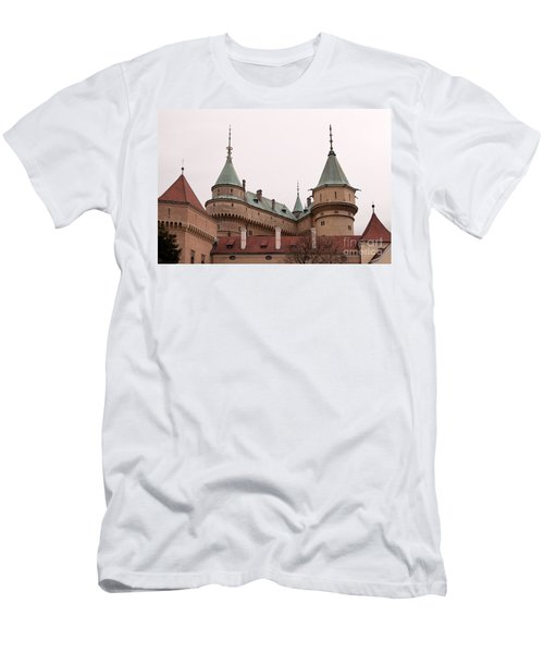 Men's T-Shirt (Slim Fit) featuring the photograph Bojnice Castle by Les Palenik