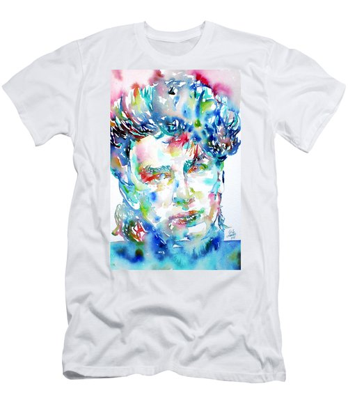 Bono Watercolor Portrait.1 Men's T-Shirt (Athletic Fit)