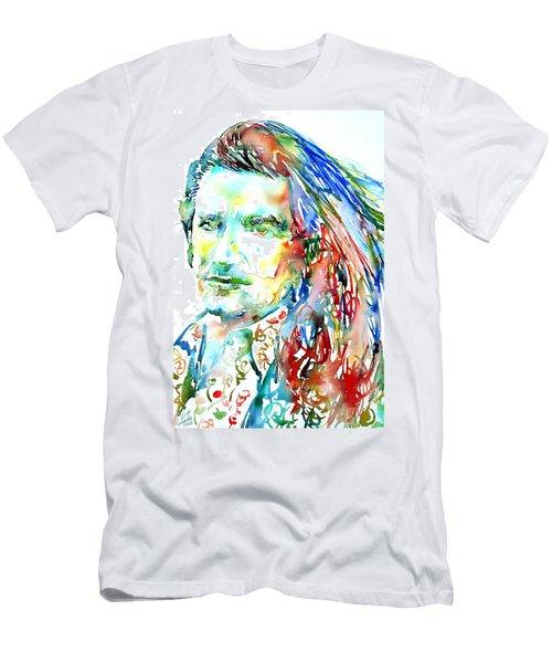 Bono Watercolor Portrait.2 Men's T-Shirt (Athletic Fit)