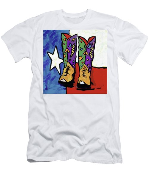 Boots On A Texas Flag Men's T-Shirt (Athletic Fit)