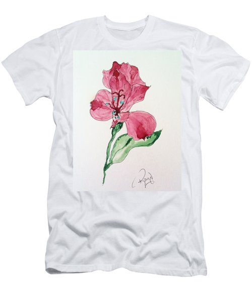 Men's T-Shirt (Slim Fit) featuring the painting Botanical Work by Rand Swift