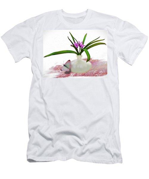 Bouque In Digital Watercolor Men's T-Shirt (Athletic Fit)