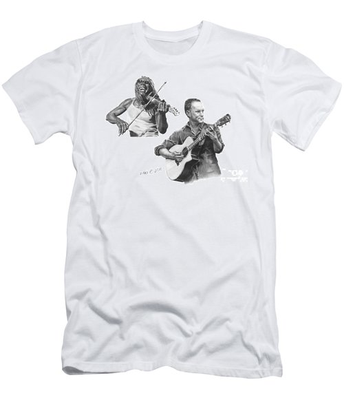 Men's T-Shirt (Slim Fit) featuring the drawing Boyd And Dave by Marianne NANA Betts