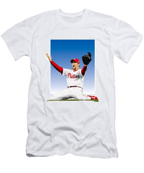 Brad Lidge Champion Men's T-Shirt (Slim Fit) by Scott Weigner