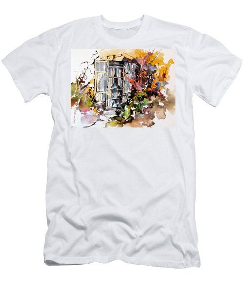 Men's T-Shirt (Slim Fit) featuring the painting Brambles by Rae Andrews