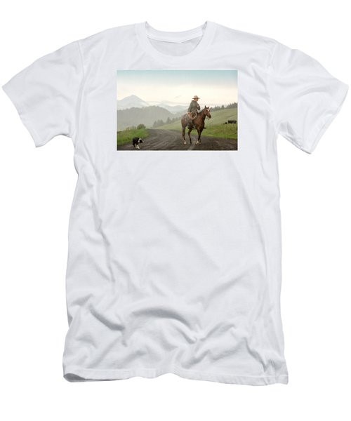 Men's T-Shirt (Athletic Fit) featuring the photograph Braving The Rain by Todd Klassy