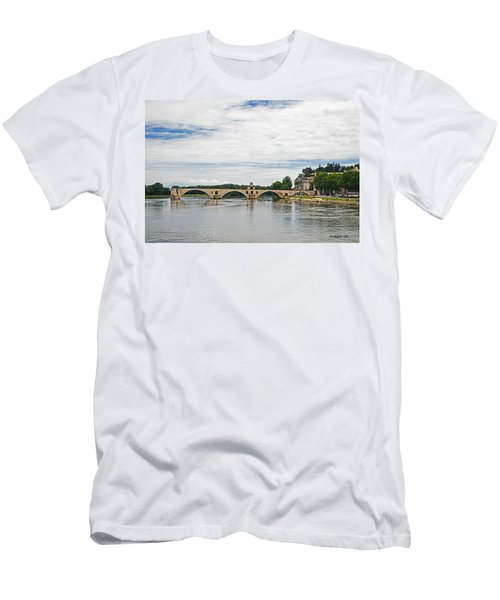 Bridge At Avignon Men's T-Shirt (Athletic Fit)