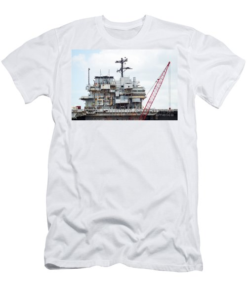 Uss Forrestal Bridge Men's T-Shirt (Athletic Fit)