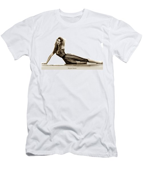 Brigitte Bardot French Actress Sex Symbol 1967 Men's T-Shirt (Athletic Fit)