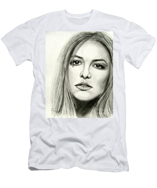 Men's T-Shirt (Slim Fit) featuring the drawing Britney Spears by Patrice Torrillo