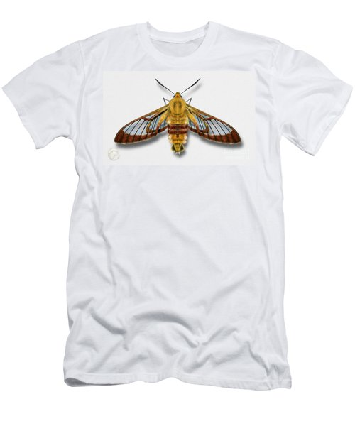 Broad-bordered Bee Hawk Moth Butterfly - Hemaris Fuciformis Naturalistic Painting -nettersheim Eifel Men's T-Shirt (Athletic Fit)