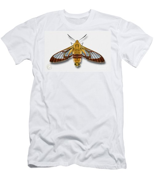 Broad-bordered Bee Hawk Moth Butterfly - Hemaris Fuciformis Naturalistic Painting -nettersheim Eifel Men's T-Shirt (Athletic Fit)