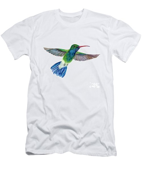 Broadbilled Fan Tail Hummingbird Men's T-Shirt (Athletic Fit)
