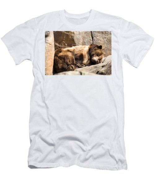 Brown Bear Asleep Again Men's T-Shirt (Athletic Fit)