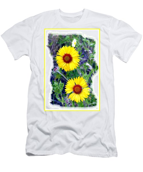 Brown- Eyed Susans Men's T-Shirt (Slim Fit) by Will Borden