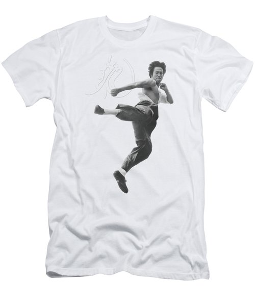 Bruce Lee - Flying Kick Men's T-Shirt (Athletic Fit)