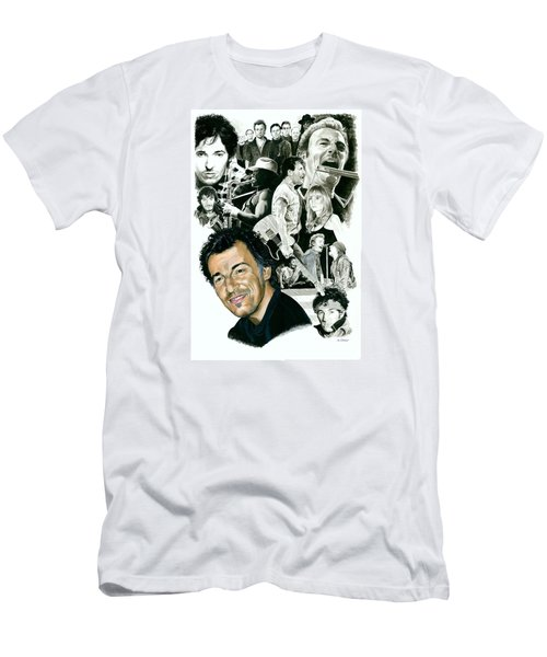 Bruce Springsteen Through The Years Men's T-Shirt (Slim Fit) by Ken Branch