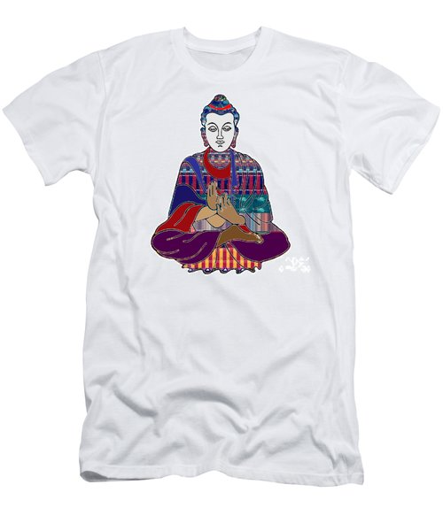 Buddha In Meditation Buddhism Master Teacher Spiritual Guru By Navinjoshi At Fineartamerica.com Men's T-Shirt (Athletic Fit)