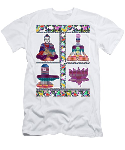 Buddha Yoga Chakra Lotus Shivalinga Meditation Navin Joshi Rights Managed Images Graphic Design Is A Men's T-Shirt (Athletic Fit)
