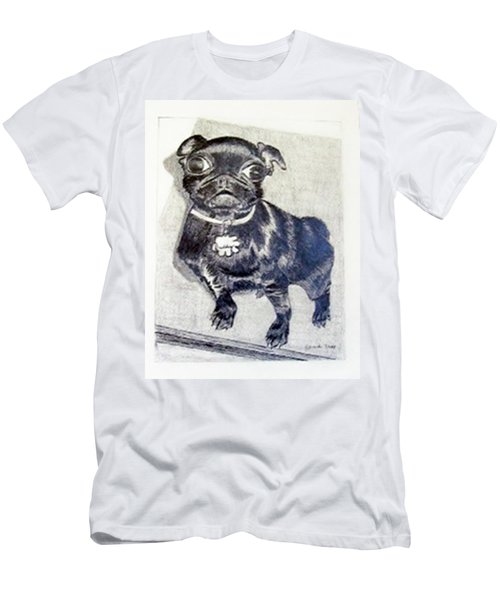Men's T-Shirt (Slim Fit) featuring the drawing Buddy by Jamie Frier