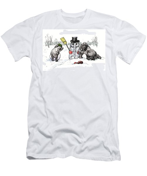 Building A Snow Elephant Men's T-Shirt (Athletic Fit)