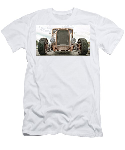 Burnt Orange Hot Rod Men's T-Shirt (Athletic Fit)