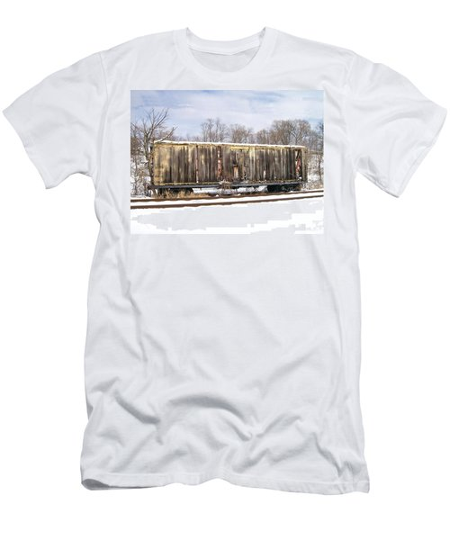 Men's T-Shirt (Slim Fit) featuring the photograph Burnt by Sara  Raber