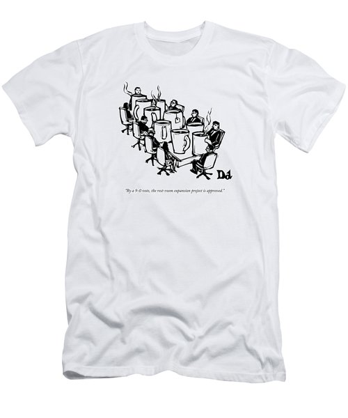 Businessmen Sit Around Conference Table Men's T-Shirt (Athletic Fit)